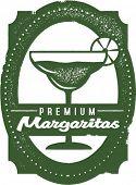 Vintage Premium Margaritas Bar Stamp