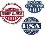 Made in USA Rubber Stamp Vectors