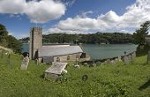 pic of dartmouth  - a view of dartmouth castle church on the estuary of the river dart devon - JPG