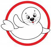 Save white-coat seal