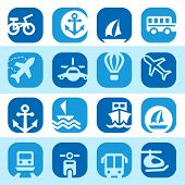 Color Transportation Icons Se