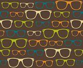 gafas gafas de sol retro de patrones sin fisuras vector fondo