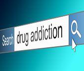 Drug Addiction Concept.