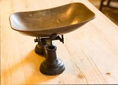 Kitchen Weigh Scales On Table