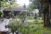 Garden of Den Quan Thanh temple