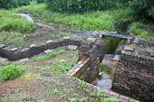 Recovered French trenches in Dien Bien Phu