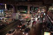 Traffic jam on Siam square