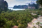 Beautiful beach and limestone landscape