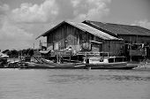 B/W Traditional Houses on stilts