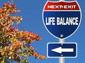Life balance road sign