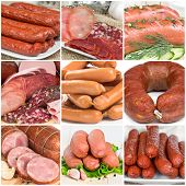 Collage Of Sausages