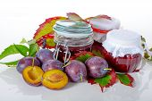 Jars Of Plum Jams