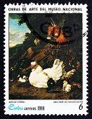 Postage Stamp Cuba 1980 Domestic Fowl, By Melchior De Hondecoete