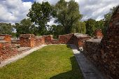 stock photo of brest  - the preserved ruins of buildings of the Brest fortress - JPG