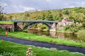 An Iron Bridge Over River Severn
