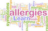 picture of allergy  - Word cloud concept illustration of allergies symptoms - JPG