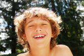 Teen Boy Enjoying Summer