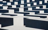 BERLIN, GERMANY - JULY 22, 2013:Holocaust Memorial  in the center of Berlin to remember the Jewish v