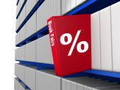 Book Fair Concept A Red Book With Discount Percentage