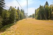 image of ropeway  - Olympic object ropeway on the of mountain - JPG