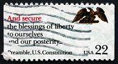 Postage Stamp Usa 1987 Preamble, Us Constitution