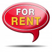 apartment or house for rent banner, renting a room or flat or other real estate sign. Home to let ic