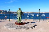 Statue Of Dom Carlos In Cascais, Portugal