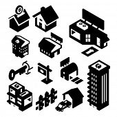 image of duplex  - Real Estate Icons Isometric - JPG