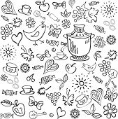 Black-and-white abstract background,tea.