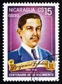 Postage Stamp Nicaragua 1985 Benjamin Zeledon, National Hero Of