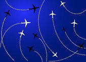 Airplanes Blue