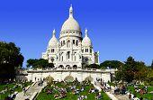 Basilica Sacre Coeur (sacred Heart) Montmartre In Paris