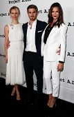 NEW YORK- OCT 17: Actors Mickey Sumner, Dave Annable & Odette Annable attend the Project A.L.S. 15th