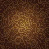 brown  vintage ornamental  design