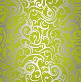 Green  & silver  shining vintage design