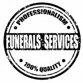 Funerals Services-stamp