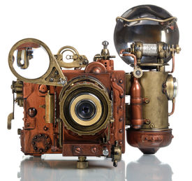 pic of steampunk  - Photo camera on a white background - JPG