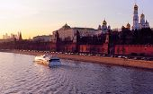 Moscow Kremlin and the Moskva River in the Evening