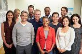 stock photo of pacific islander ethnicity  - Portrait Of Staff In Modern Multi - JPG