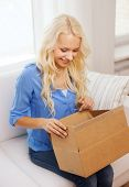 stock photo of shipping receiving  - home - JPG