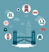 vector London and UK concept illustration