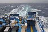 Ferry Boat At Sea