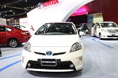 Nonthaburi - March 25: Toyota Prius Car On Display At The 35Th Bangkok International Motor Show On M