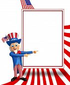 image of uncle  - 3d rendered illustration of uncle sam with sign - JPG