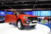 Nonthaburi - March 25: Ford Ranger Car On Display At The 35Th Bangkok International Motor Show On Ma