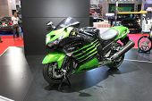 Bangkok - March 25 : Kawasaki Ninja Zx-14R Motorcycle On Display At The 35Th Bangkok International M