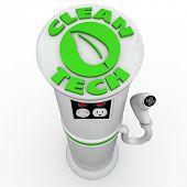 Clean Tech EV Car Charging Power Energy Station