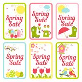 Collection of designs for Spring Sale signs