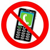 No Phone Vector Sign