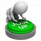 Join Up Button Means Group Membership Or Subscription